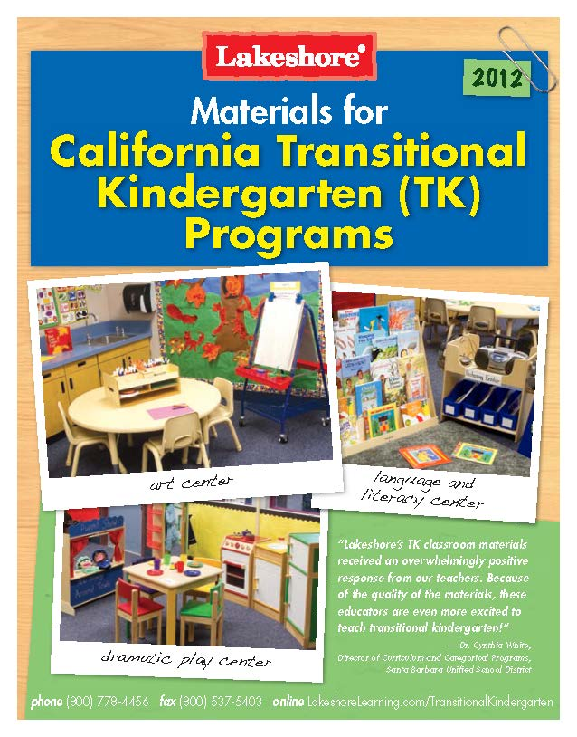 Materials for the Transitional Kindergarten Classroom