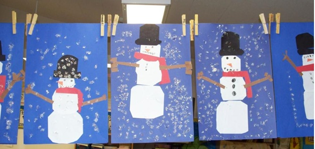 All That Glitters is (Fake) Snow – An Easy Way to Add Sparkle to a Winter Art Activity