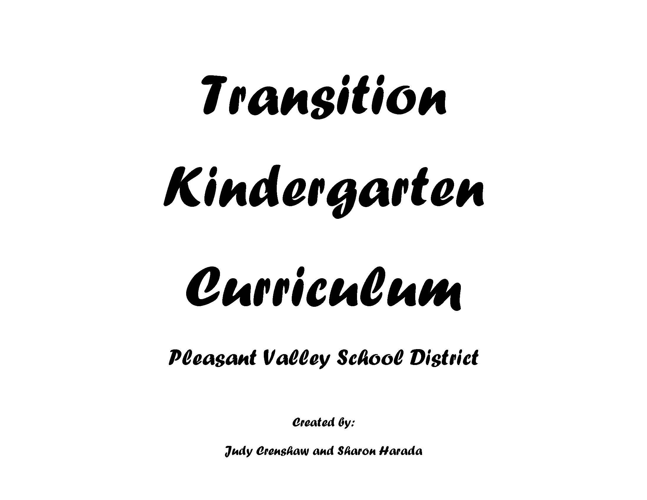 TK Curriculum & Supporting Literature