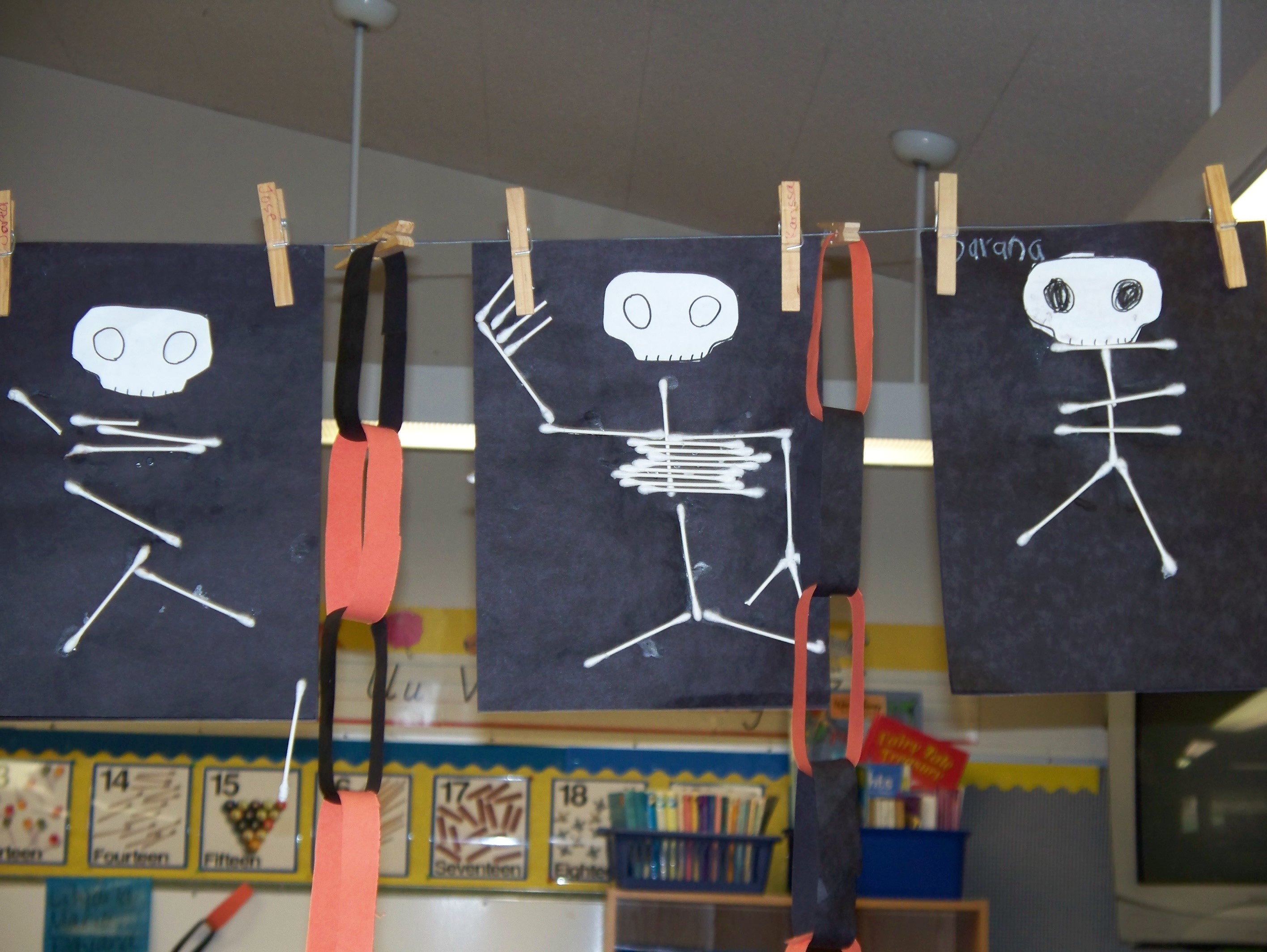 Cotton Swab Q Tip Skeletons California Kindergarten Association