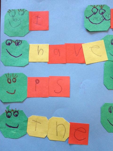 Caterpillar Sight Words a Kindergarten Language Arts Activity