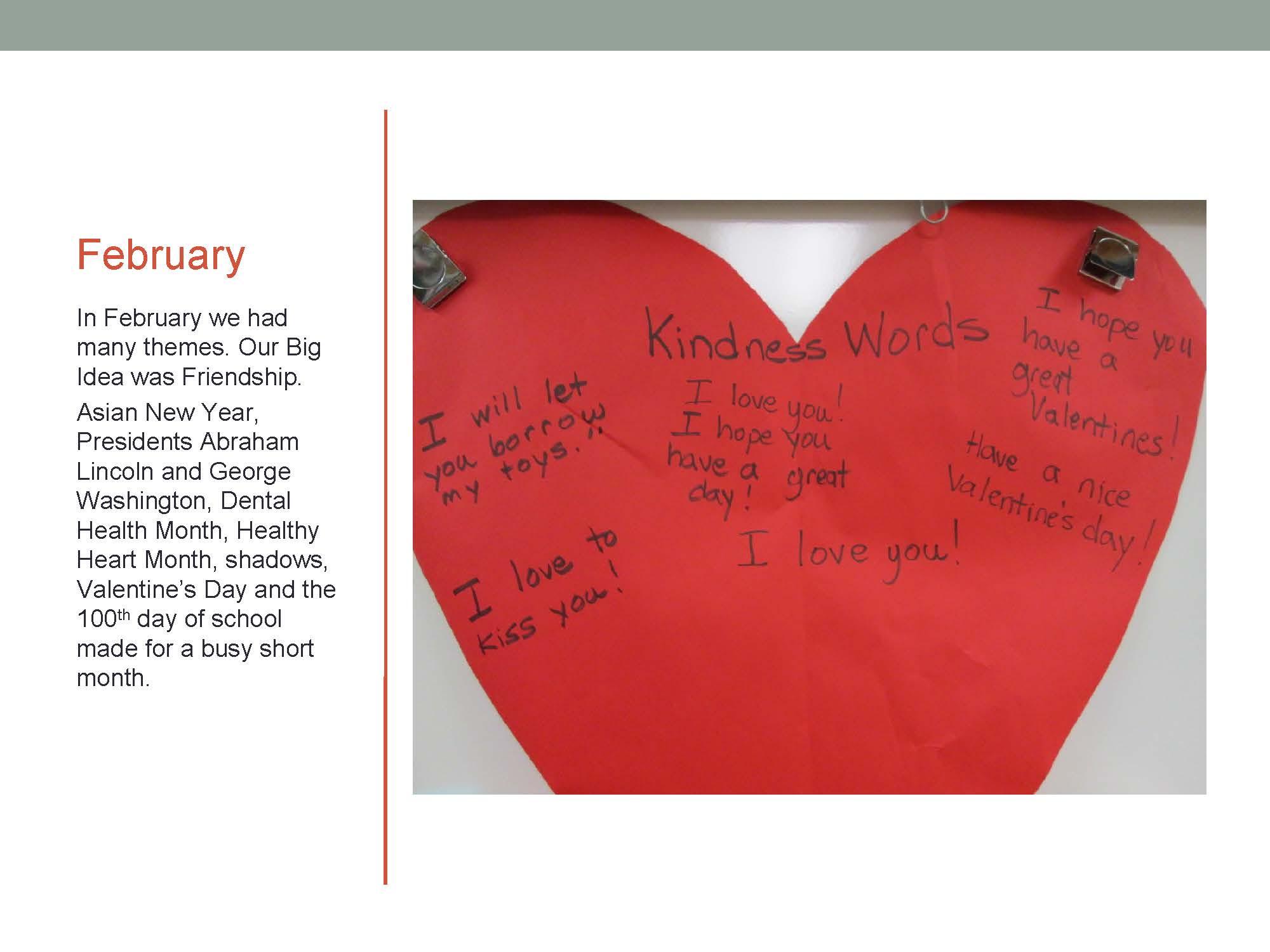 Transitional Kindergarten with Debra Weller – February