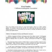 Word Families, June 2013