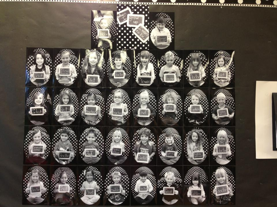 When I Grow Up I Want to Be… An Adorable Kindergarten Bulletin Board!