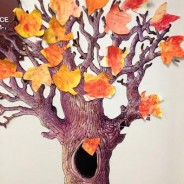 Fall Colors Come to the Classroom with this November Tree Art Project