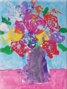 Flowers in Vase Pink