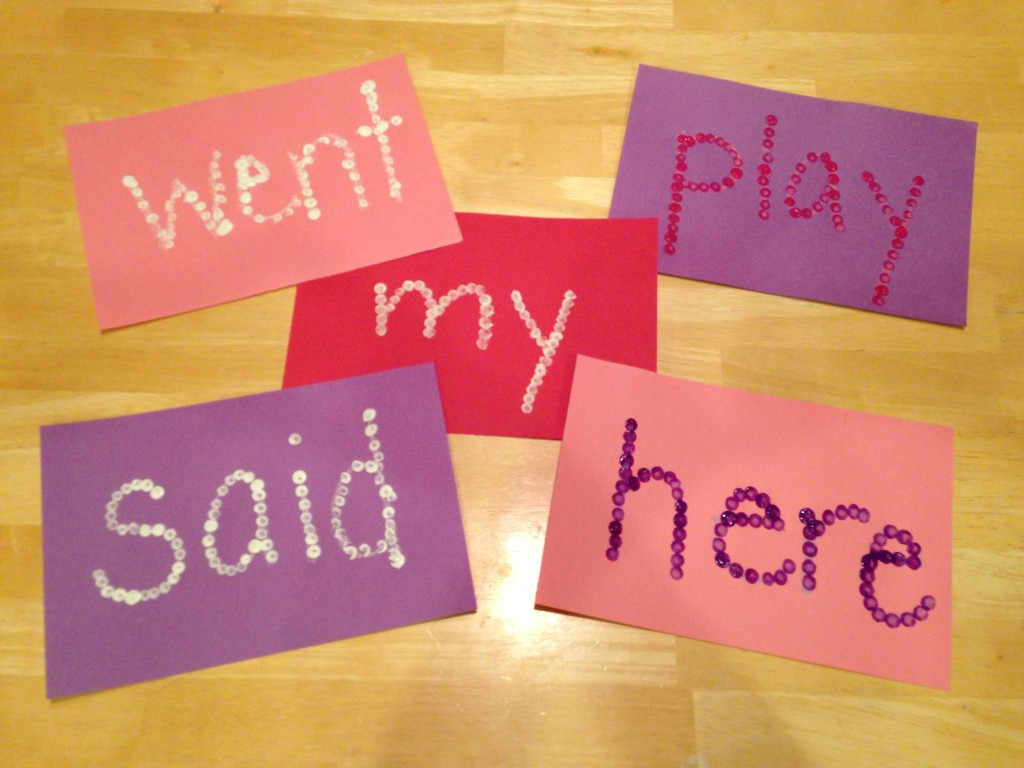 Easy Kindergarten Valentine's Day Sight Words