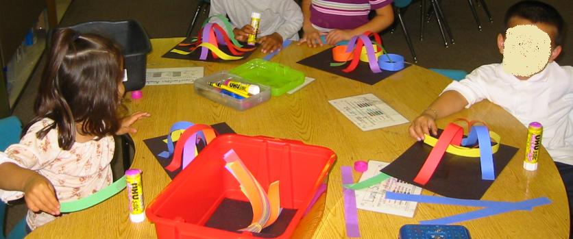 3d rainbows - an easy creative kindergarten art project.