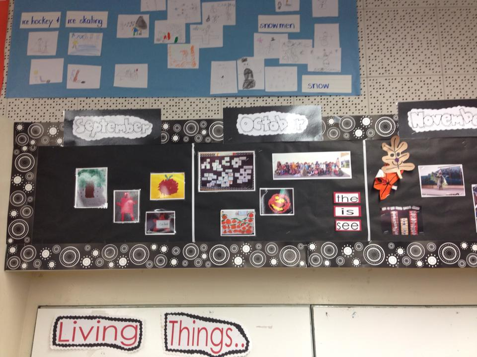Past, present and future with a kindergarten timeline