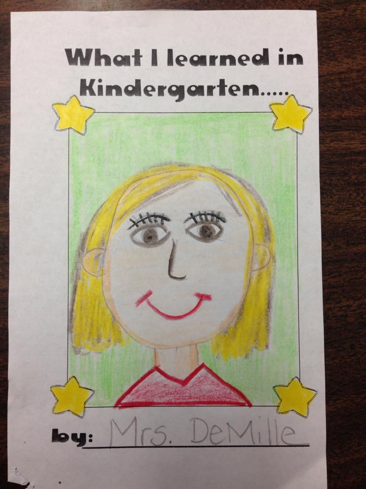 End of the year kindergarten memory book.