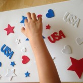 Easy Art with a Patriotic Flare