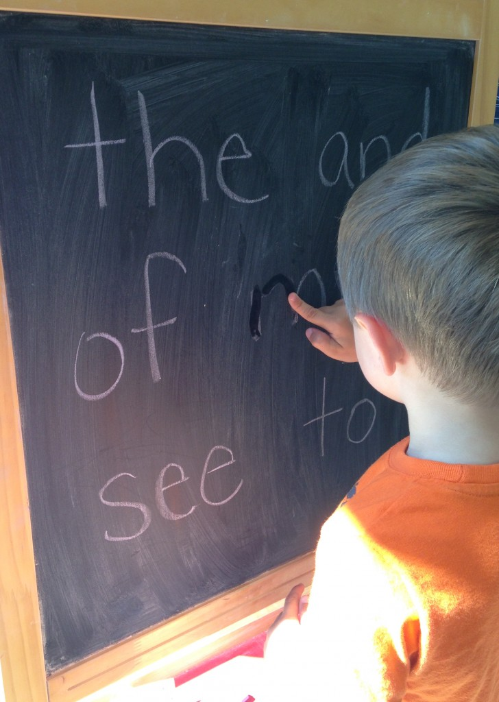 Chalkboard sight words