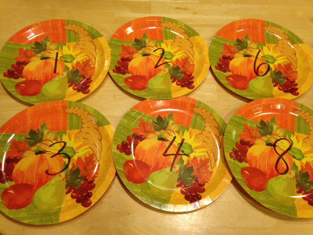 Use seasonal plates to make a fun and easy kindergarten math activity.