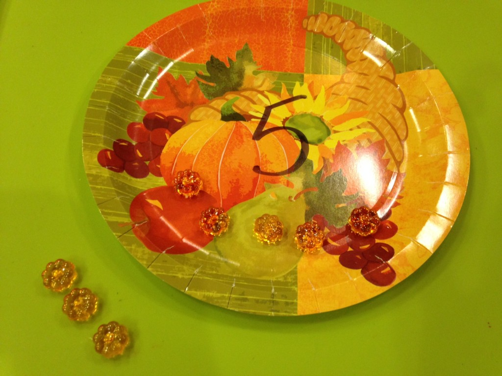 Kindergarten math made easy with seasonal counting plates.