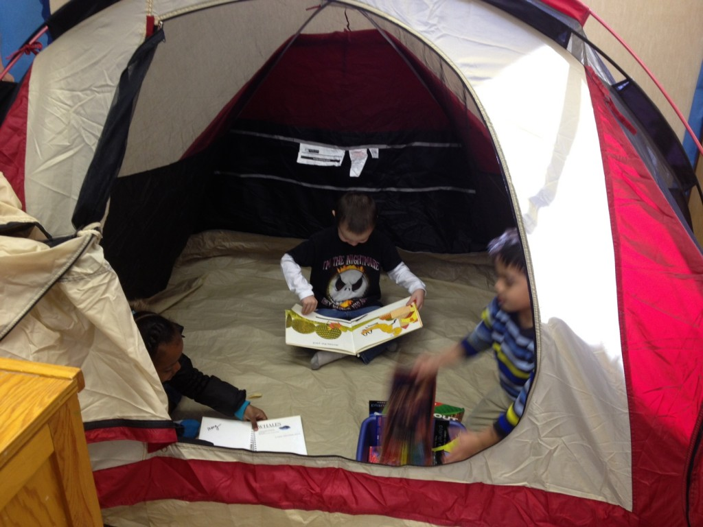 Use a tent to add a fun twist to many different activities!
