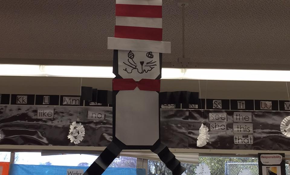 The Cat in the Hat directed art activity.