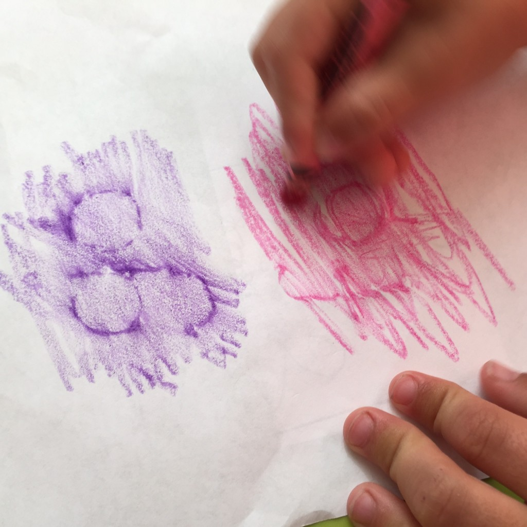Make your own sight word rubbing cards!