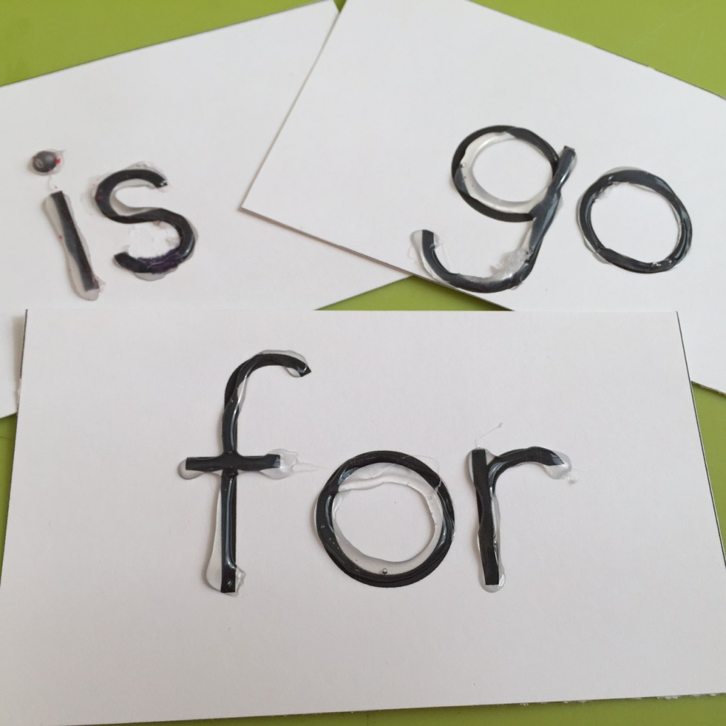 Make your own sight words rubbing cards.