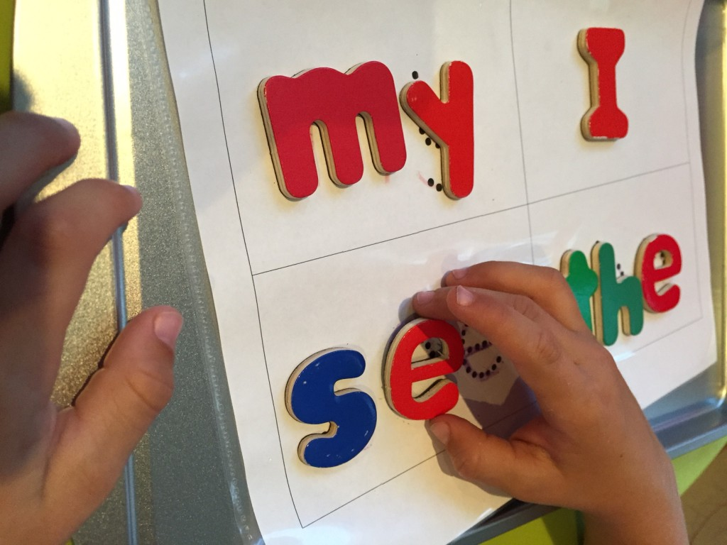 sight words magnet board pic 3