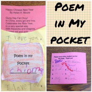Poem in my pocket mosaic