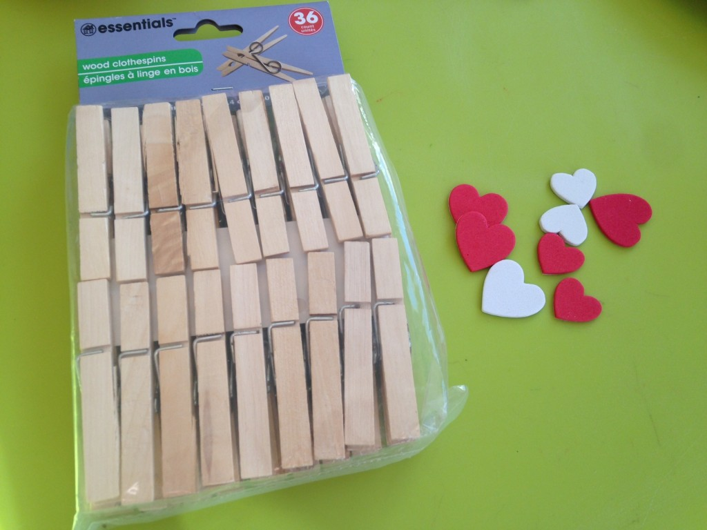valentines clothes pins