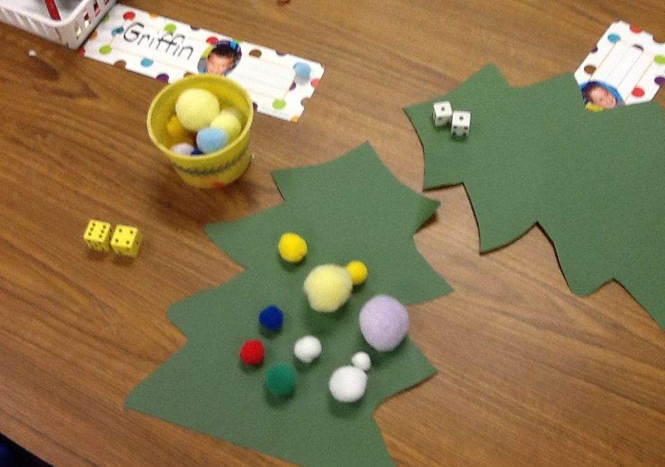 One, Two, Tree!  Easy Seasonal Kindergarten Counting Game
